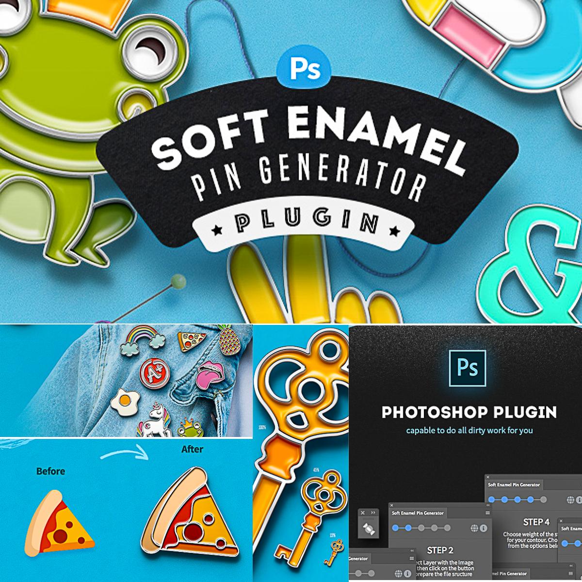 Soft Enamel Pin Generator   Free download