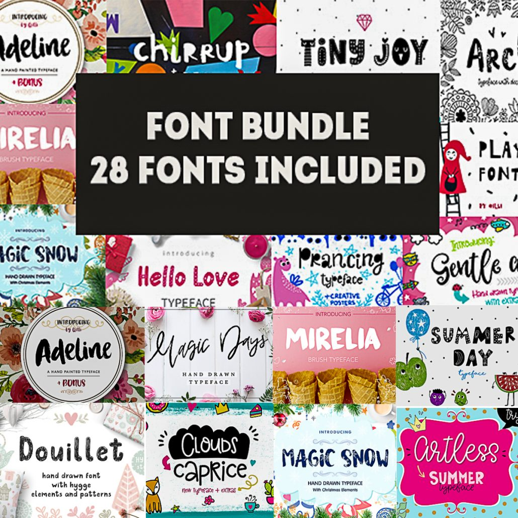 Download 28 Cool Fonts with Extras Collection | Free download