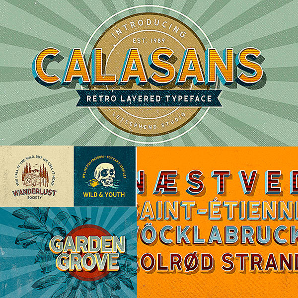 Calasans 7 Layered Fonts | Free download