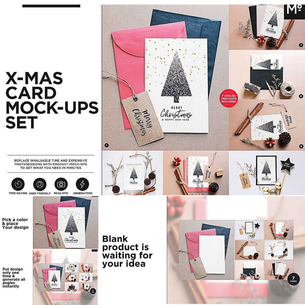 Christmas Card Mockups Generator Free Download