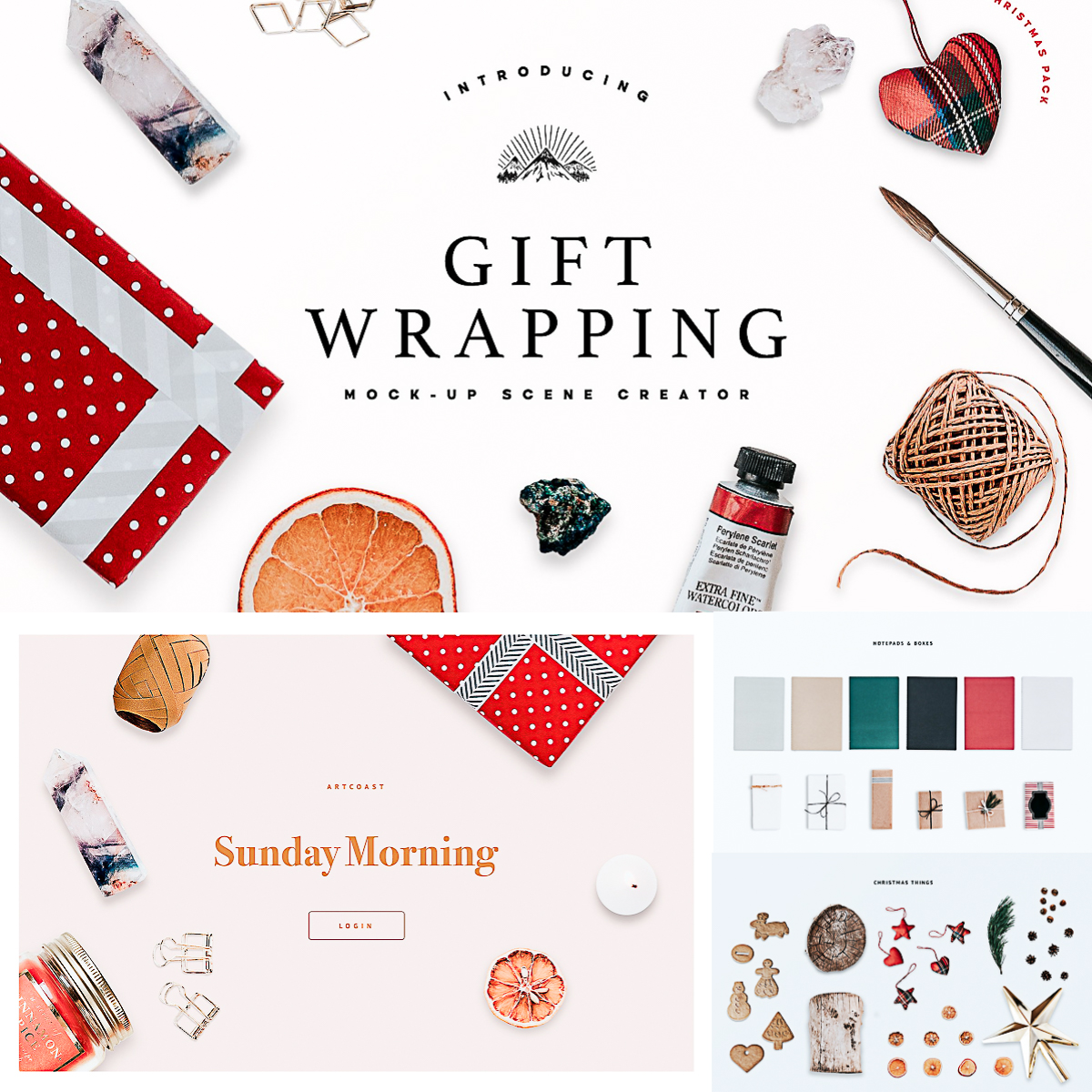gift wrapping mock up scene creator
