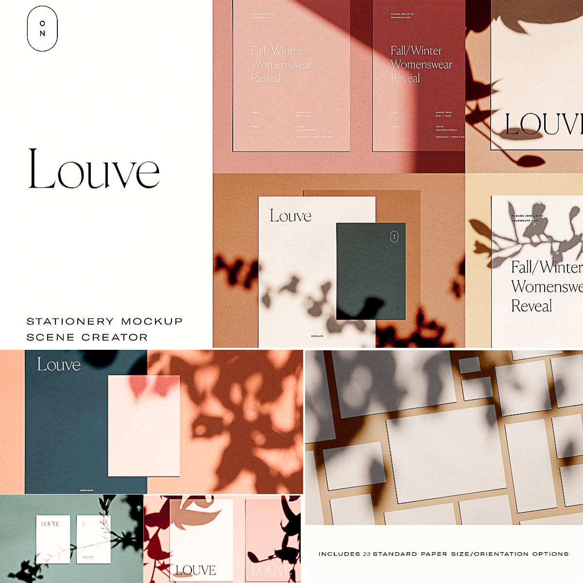 louve mockup kit scene creator free download