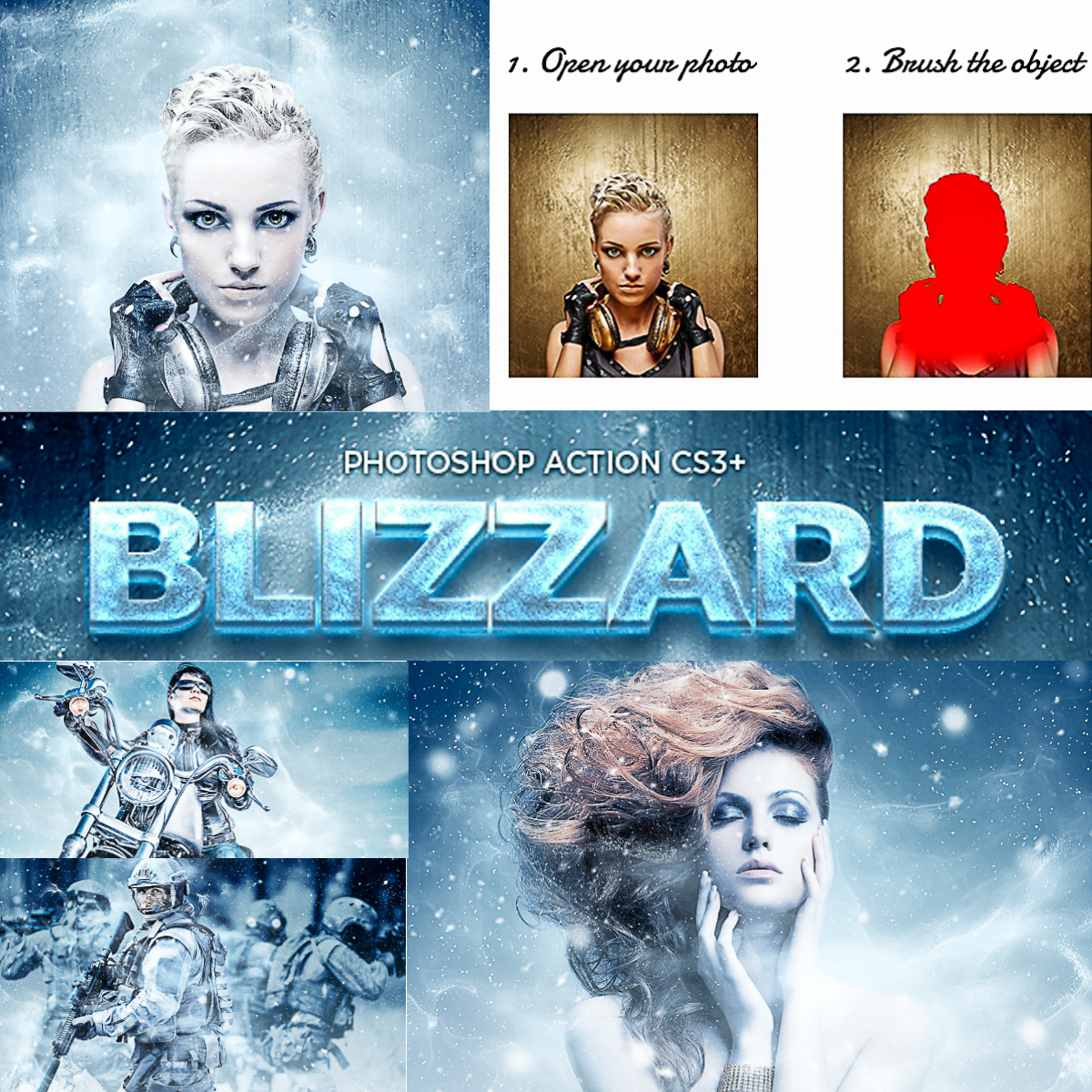 Blizzard Photoshop Action | Free download