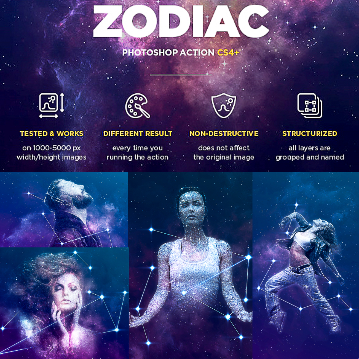 Zodiac Photoshop Action   Free download