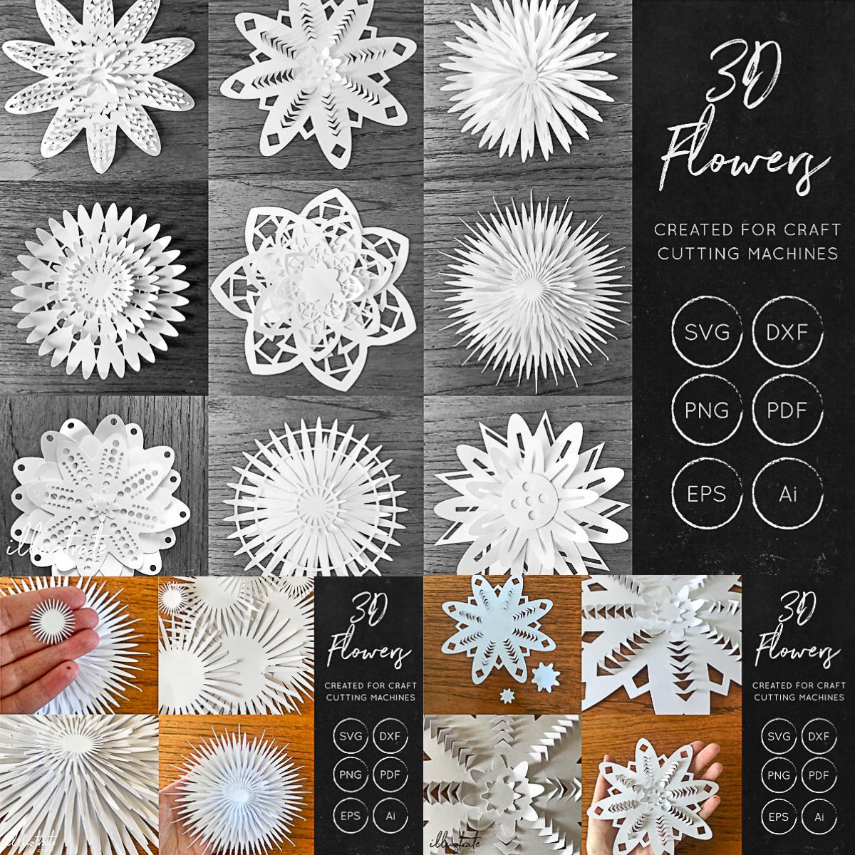 3D Flower SVG Cut Files
