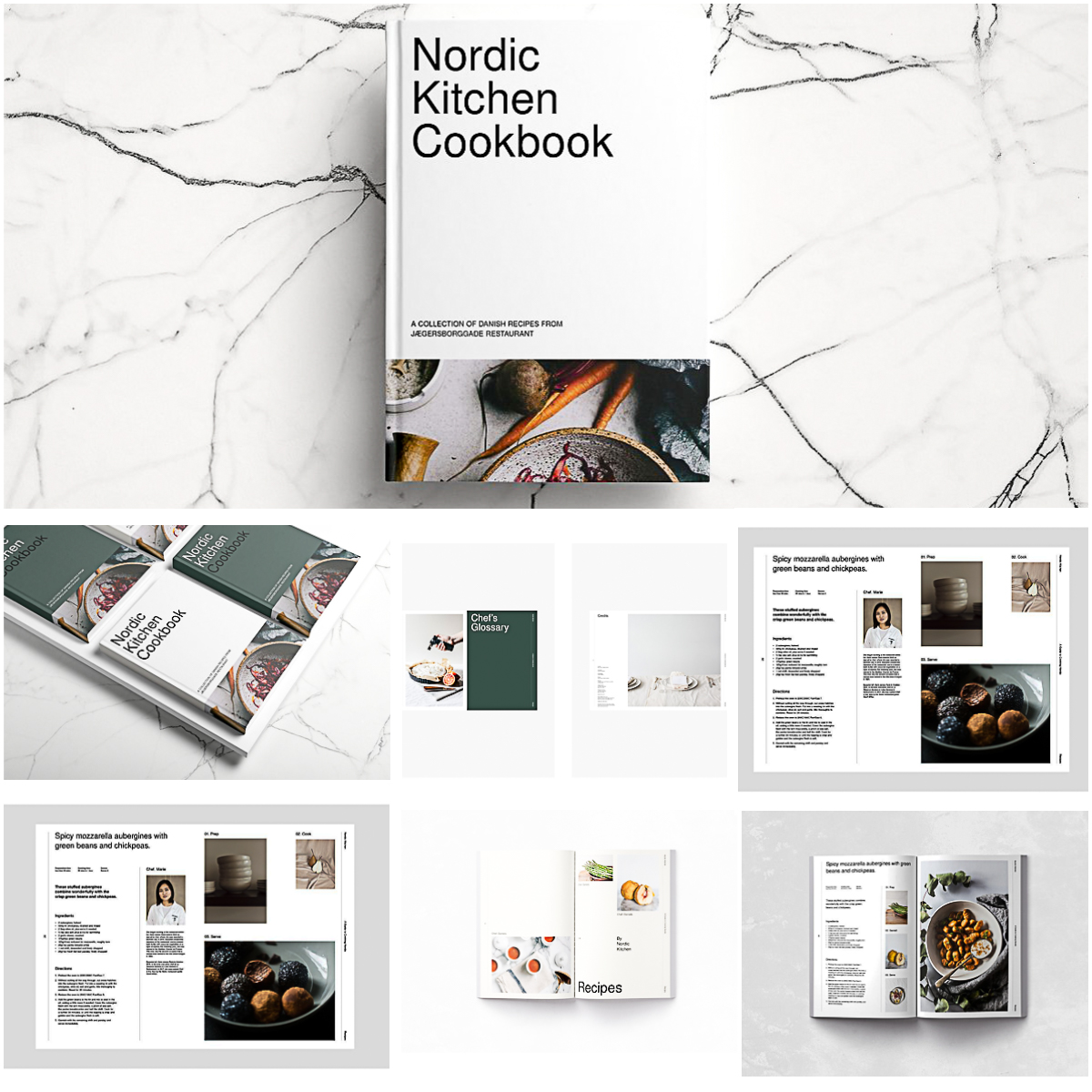 Free Downloadable Indesign Templates: Cookbook Nordic Indesign Template