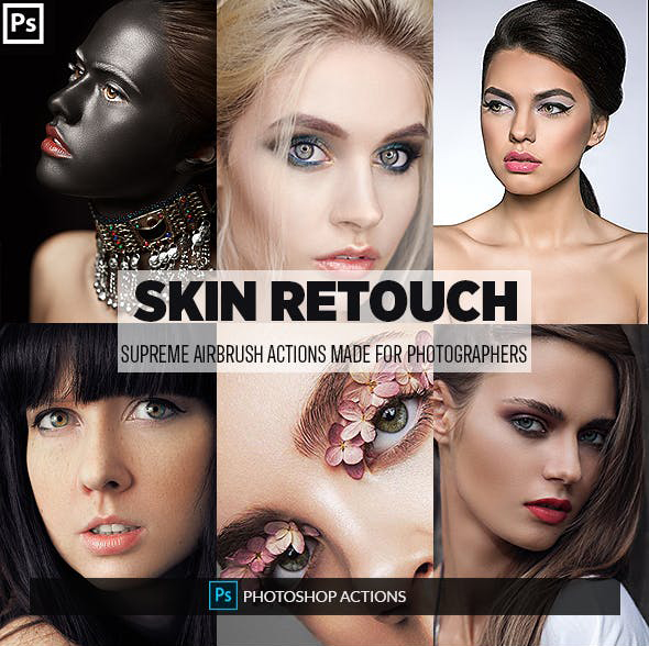 Easy Skin Retouch Photoshop Actions | Free download