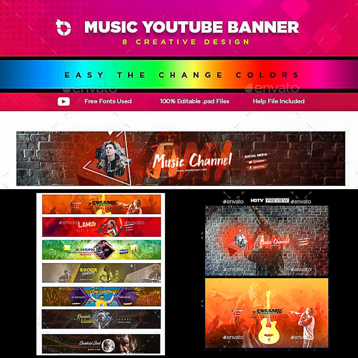 Music Youtube Banner Template Free Download