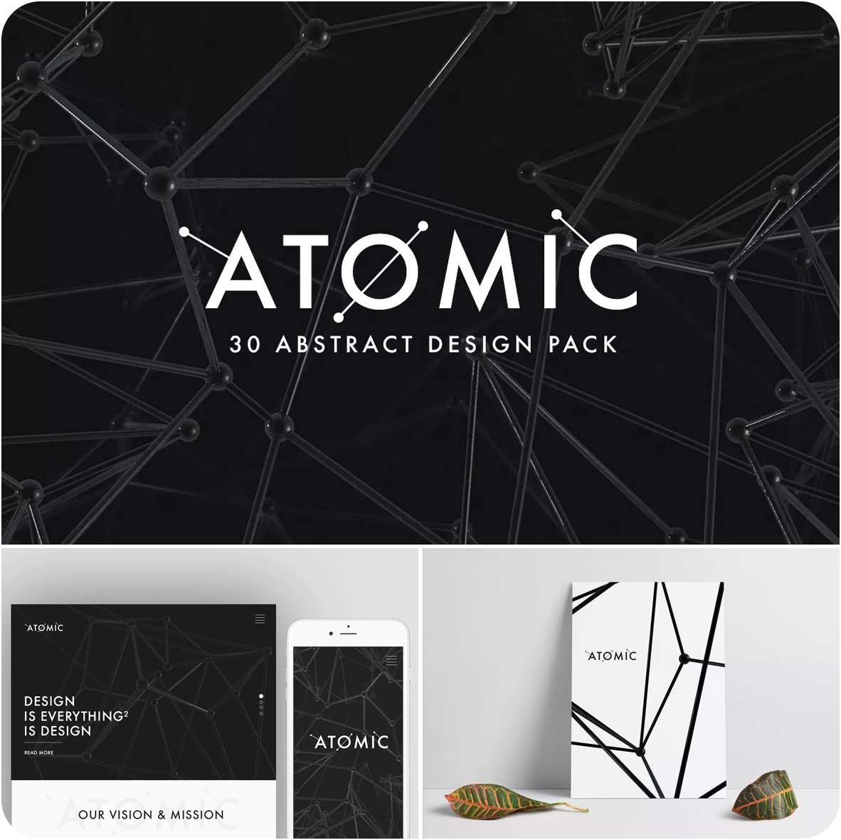 Atomic 30 Abstract Design Pack