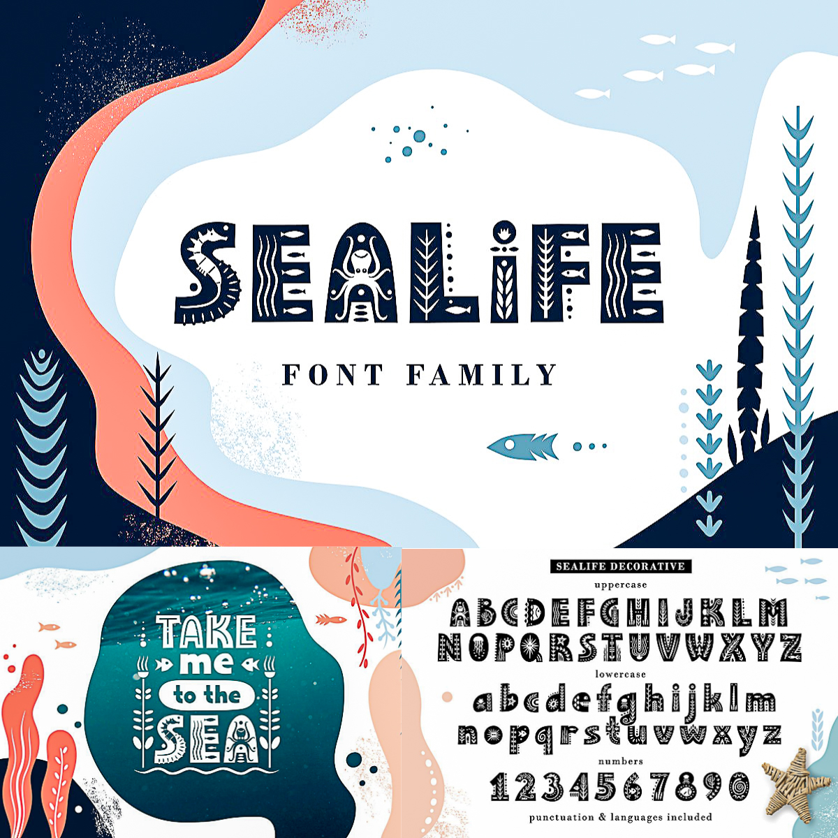 Sealife Font Family | Free download
