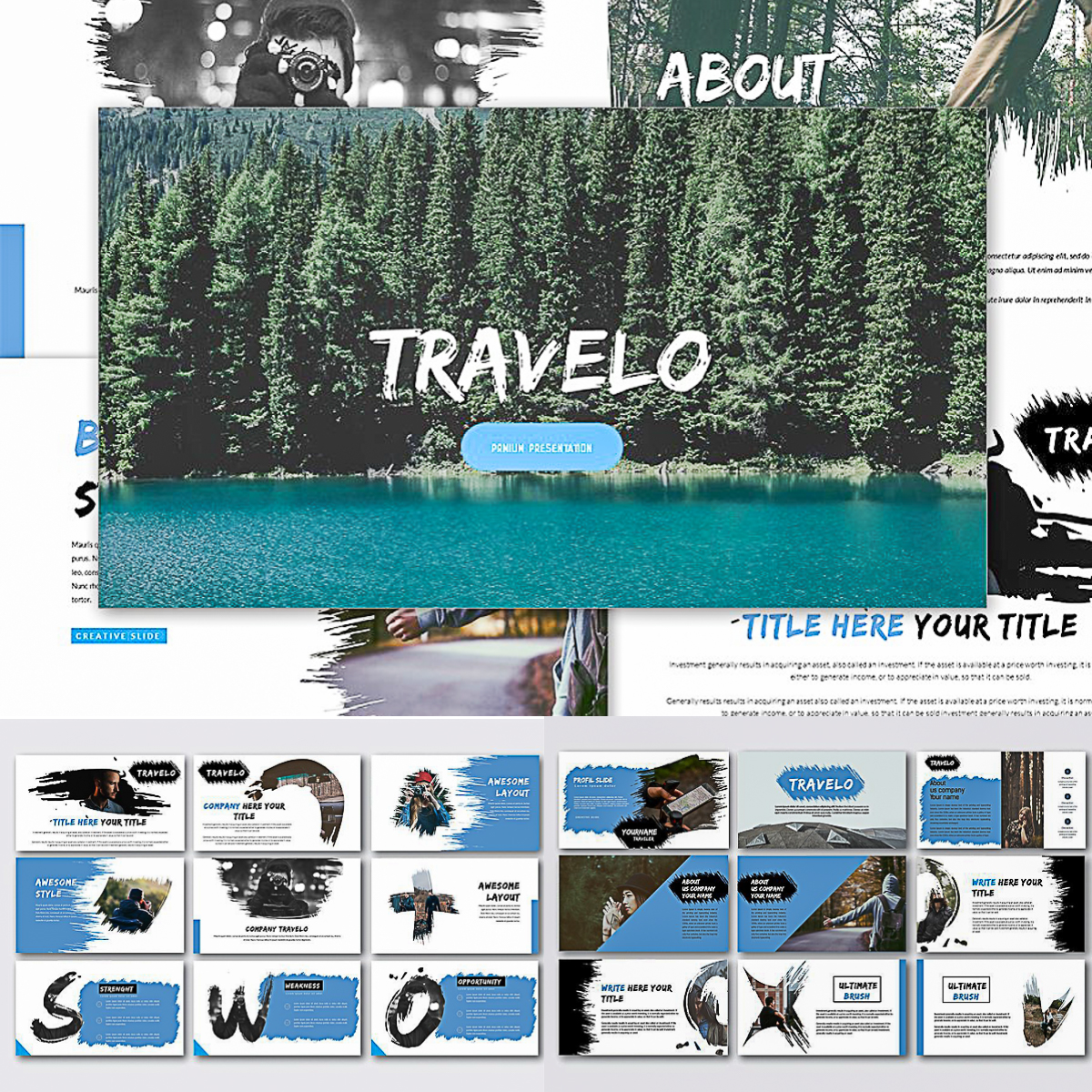Travelo Premium Powerpoint Template Free Download