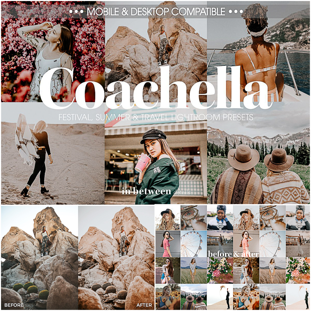 Coachella Mobile Lightroom Presets | Free download