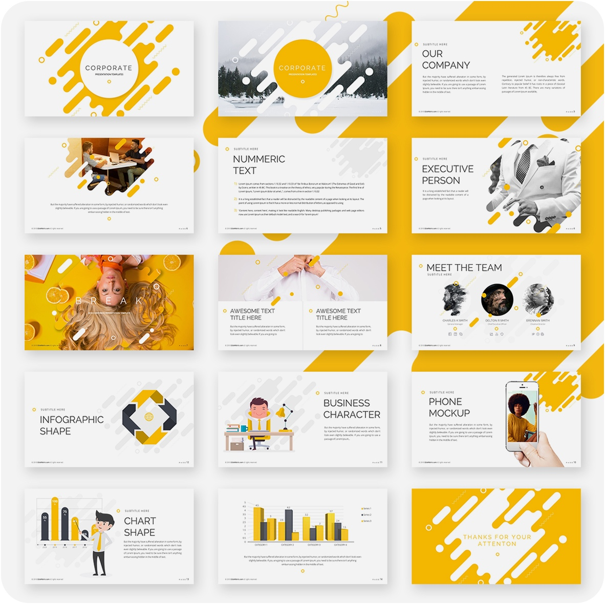 Meet The Team Powerpoint Template Free Download