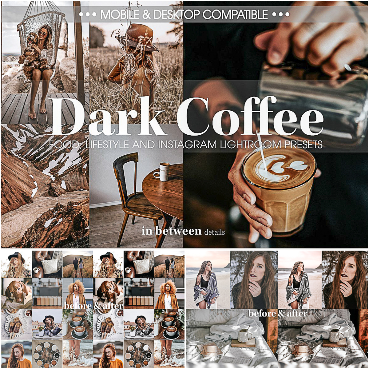 Dark Coffee Mobile and Desktop Presets | Free download