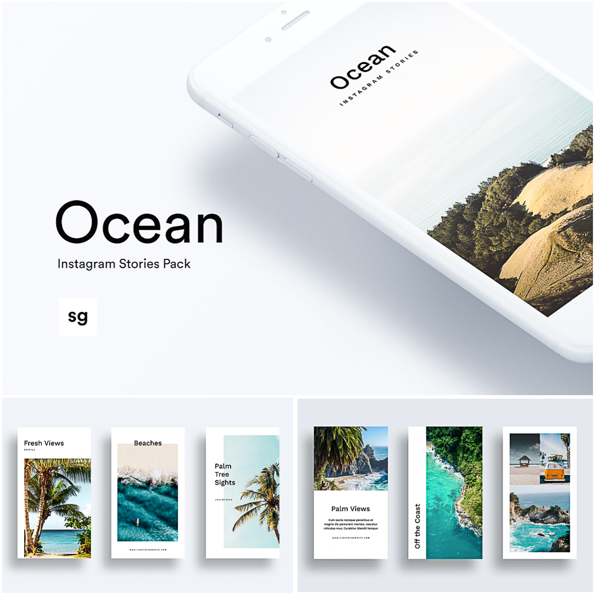 Ocean Instagram Stories Pack | Free download
