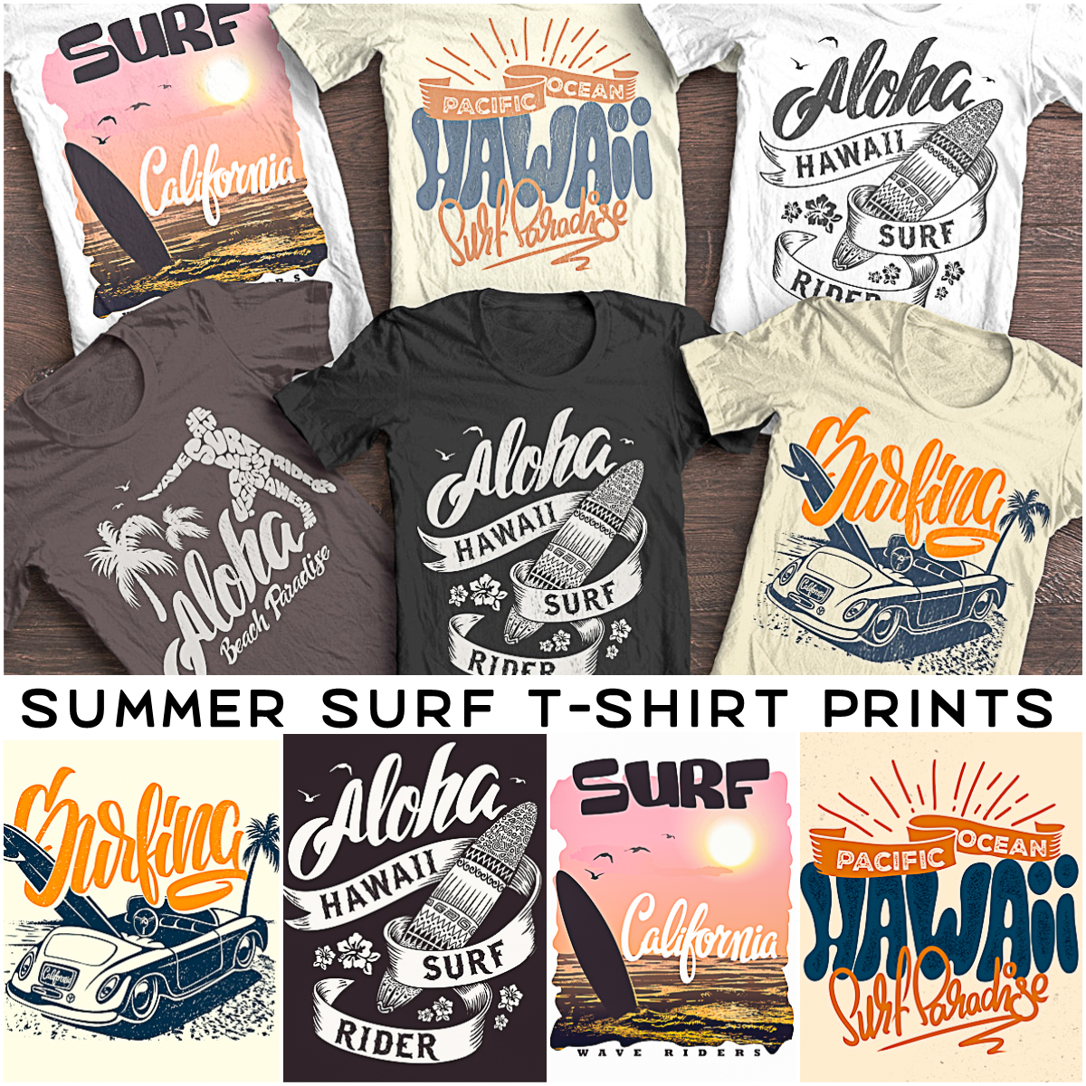 Summer Surf T Shirt Print Free Download