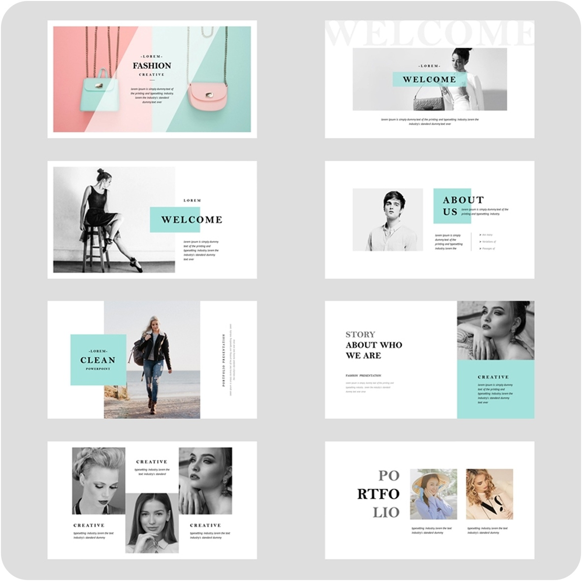 Fashion Powerpoint Presentation Template Free Download