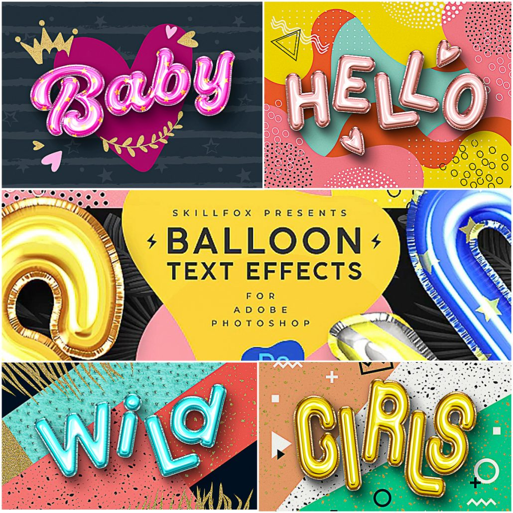 Dark Fashion Logo Mock Up: Foil Balloon Text Effects