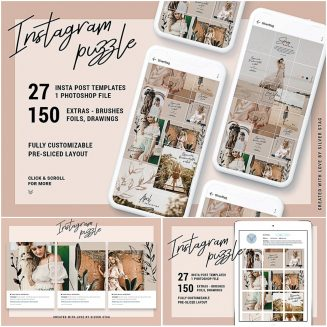 Instagram Grid Puzzle Template | Free download