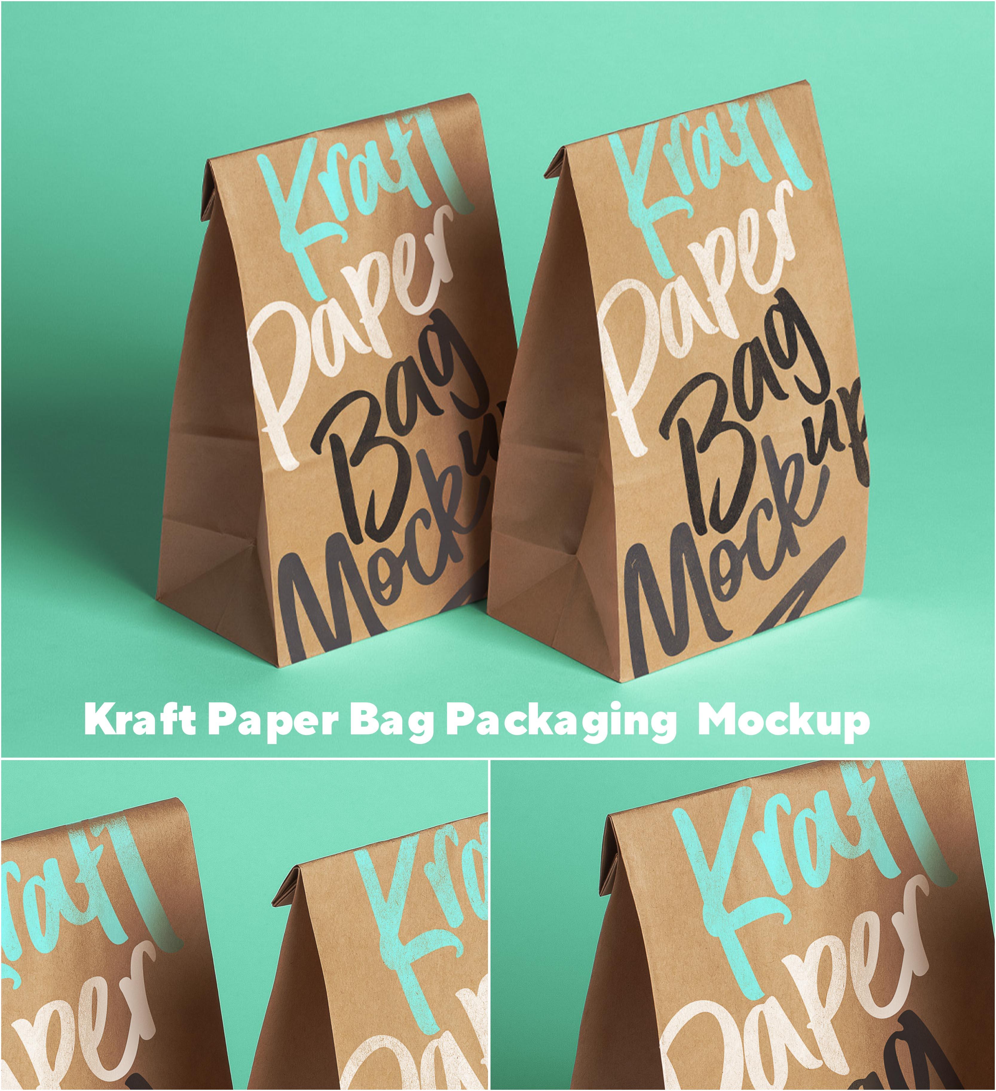 Kraft Paper Food Packaging Mockup