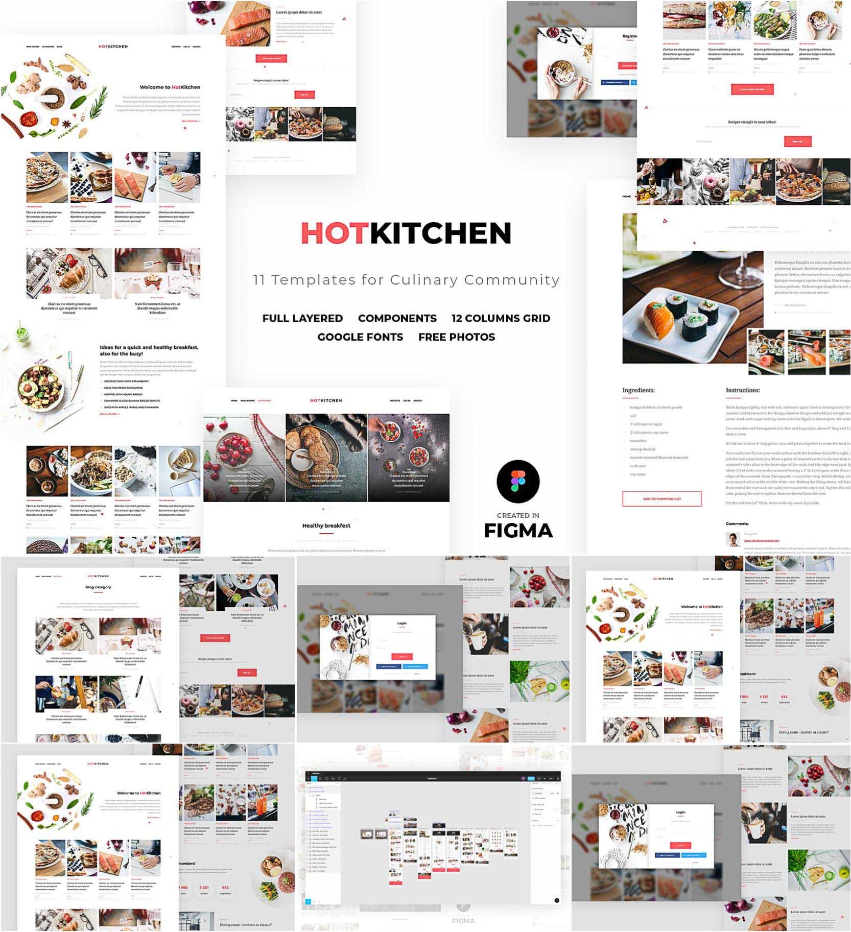 Kitchen Ui Ux Culinary Template Figma